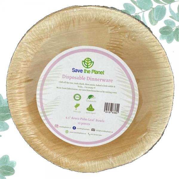 Disposable Bowls Disposable plates Areca Palm Leaf bowls Ecofriendly plates Save The planet