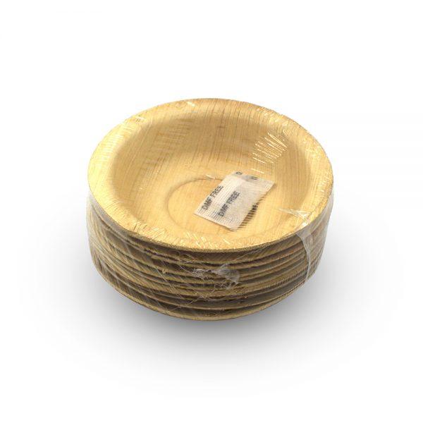Disposable bowls 10pcs set of 4 size round areca palm leaf plates save the planet dubai eco friendly disposable plates