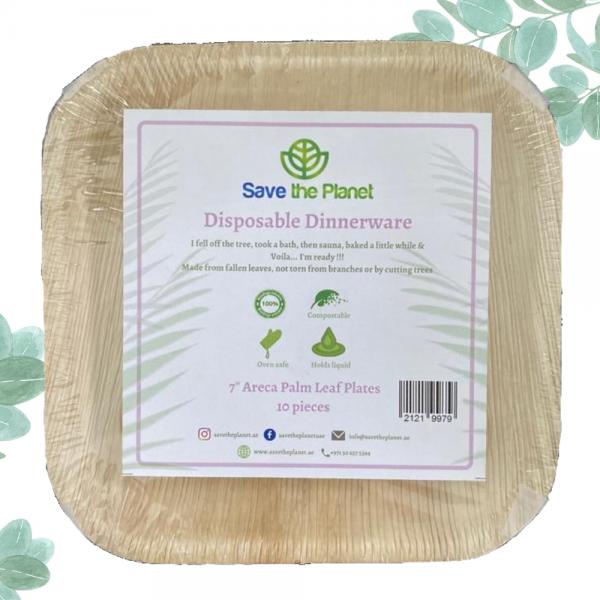 Disposable Plates Areca Palm Leaf Ecofriendly Plates Save The Planet