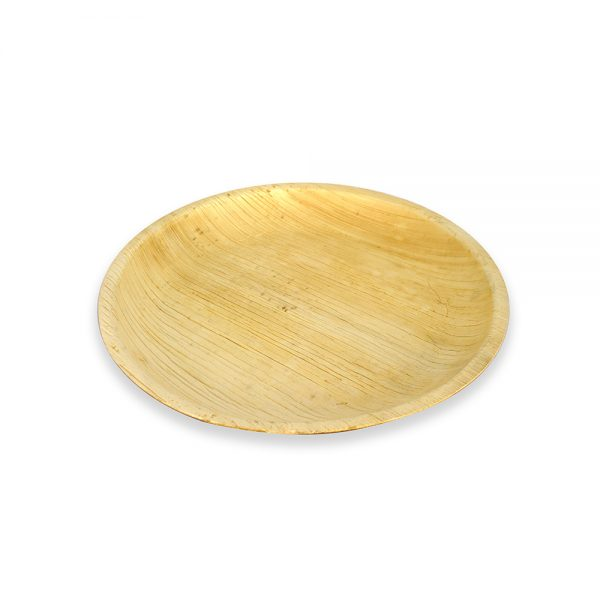 Disposable Plates – 10pcs set of 7″ Areca Palm Leaf Round Plates – Eco friendly Disposable Dinnerware - save the planet