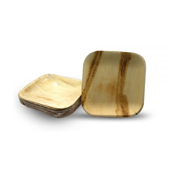 Disposable plates - Areca palm leaf plates square size 7 - eco friendly plates - save the planet