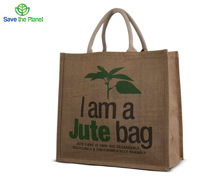 eco friendly bag - re usable bag - jute bag - disposable products - Save the planet