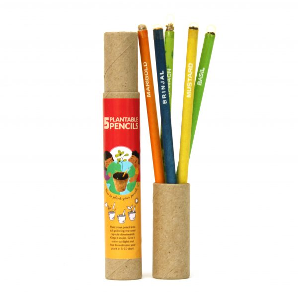 Plantable Classic Seed Pencils - 5 pcs Plantable Pencils Save The Planet 1