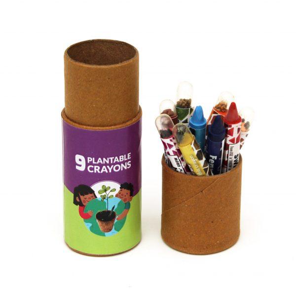 Plantable Colouring Seed Crayons - 9pcs Seed Crayons
