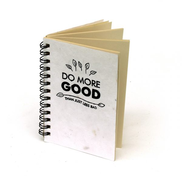 Plantable Mini Notepads – 1pc A5 Plantable Mini Notepad with Wire-O Binding- 3″x 5″ – 72 Pages save the planet