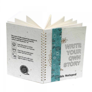 Plantable Note Pads - 1pc A5 Plantable Notepad with Wire-O Binding- 5x 7 - 72 Pages Save The Planet