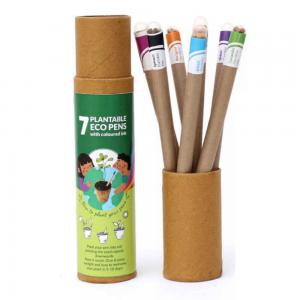 Plantable Pens - 7pcs Plantable Coloured Ink Eco Pens Save The Planet