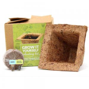 Grow-It-Yourself Planting Kit - Cocopot + Cocopeat + Seed Capsule + Fertiliser Capsule