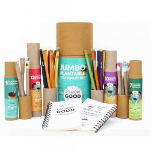 Jumbo Kit - 7 Coloured Ink Eco Seed Pens + 10 Plantable Colouring Pencils + 2 Plantable Mini Notepads + 12 Plantable Pencils + 5 Paper Seed Pens Save The Planet
