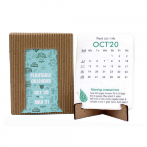Plantable Calendar with MDF Stand - Ecofriendly Stationery Save The Planet