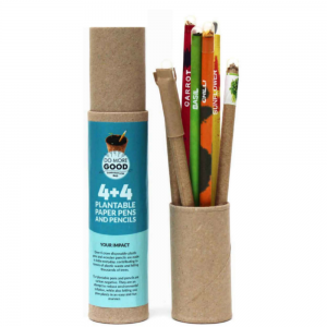 Plantable Paper Seed Pen + Pencil Combo – 4 Plantable Paper Seed Pens and 4 Seed Pencils – Ecofriendly Stationery