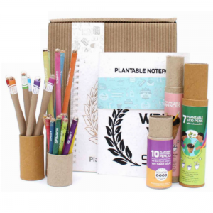 Super Combo - 10 Mini Seed Colouring Pencils + 7 Coloured Ink Eco Seed Pens + 5 Plantable Pencils + 2 Plantable Notepads